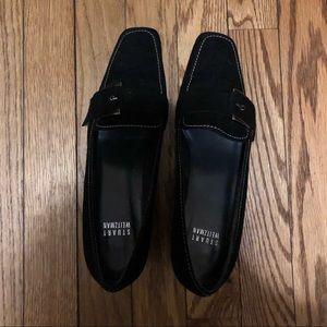Stuart Weinstein Black Suede Block Heels